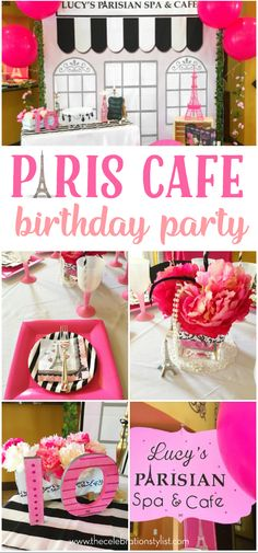 Parisian Cafe Paris theme Birthday Party ideas for kids