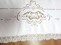 Vintage Italian Cutwork Lace Embroidered 1920's Tablecloth. Offered by Vintage Linens on Etsy. #vintageunscripted #vintagelifestyle