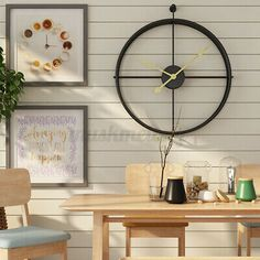 Giant Wall Clock, Wall Clocks, Wall Design, House Design, Wall Watch, Simple Living Room, Home Office Design, Modern Wall, Amazing