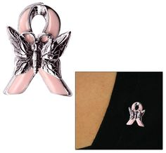 Pink Ribbon Butterfly Pin at The Breast Cancer Site