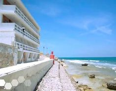 hotel rocamar. 525 for stay - oceanfront view king with balcony and hammock, upper level. caribbean side of island, near town but further from playa norte.