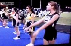 Is it bad that I laugh even harder every time I see this?? The back-side flop girl. | 19 Cheerleaders Who May Not Make The Team Next Year