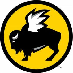 I like the styling of the Buffalo Wild Wings logo. The simple coloring, outlined illustration and slight shading make the picture striking and popping. I don't see the point of some of the detailing like the eyes or the hair on the belly but it doesn't really detract from the image. I do not like the color however, the yellow is a bit subdued but I don't find it appealing for a restaurant.
