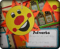 Adverbs, or proper nouns, verbs adj. 2nd Grade Ela, 2nd Grade Reading, Second Grade, Grammar Lessons, Spelling And Grammar, Adverb Activities, Teacher Resources, Teaching Ideas, Writing Resources