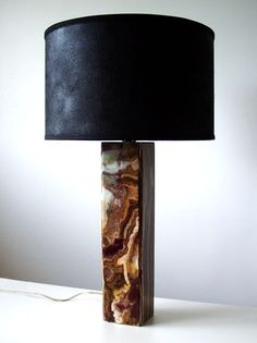 1950's Onyx Table lamp.. love.