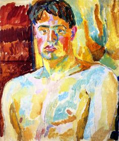 Gay Reclamation Project. Portrait of David Garnett painted by Duncan Grant, lovers & both members of the Bloomsbury Group; Garnett in later years married the daughter of Grant & his mistress, Vanessa Bell in another of the incestuous Bloomsbury relationships.