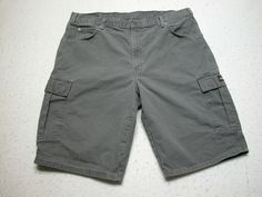 Dickies Relaxed Fit Gray Duck Canvas Cargo Shorts Men Size 40100% Cotton (40x13) #Dickies #Cargo #Casual Color Shades, Gray, Shorts, Canvas, Fitness, Cotton, Fashion, Tela, Moda