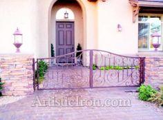 Wrought Iron Courtyard Entryway