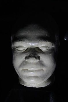 """THOMAS MENARD - Executed 28th October 1865 Thomas Menard was sentenced to death for murdering James Sweeney. Menard, alias """"Yankee Tom"""" was executed at the Geelong Gaol on the 28th of October 1865. This is his death mask. #geelonggaolghosttours"""