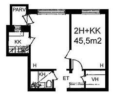 Pajamäentie, Pajamäki, Helsinki, 2h+kk 45,5 m², SATO vuokra-asunto