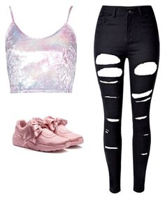 """""""fenty"""" by ardrey on Polyvore featuring Puma and WithChic"""