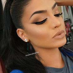 """Slight smoke   Makeup details: EYES: @lillyghalichi @lillylashes mink lashes in """"Cannes @benefitcosmetics stay don't stray eye primer @morphebrushes 35O eyeshadow palette @motivescosmetics LBD gel liner @nyxcosmetics super skinny liner for inner corner @toofaced better than sex mascara @anastasiabeverlyhills dipbrow in soft brown  FACE: @nyxcosmetics pore filler primer  @bellettostudio airbrush foundation  @lagirlcosmetics proconceal in beautiful bronze to contour and creamy beige to…"""