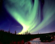 The Northern Lights -- as seen from Alaska.