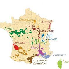 Les vins et leurs régions
