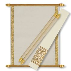 Off white Scroll wedding invitations with gold design Scroll Wedding Invitations, Scroll Invitation, Menu Cards, Table Cards, Money Envelopes, Sweet Box, Princess Birthday, Thank You Cards, Rsvp