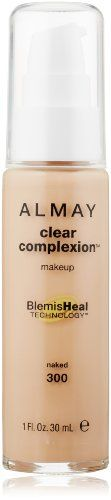 Almay Clear Complexion Liquid Makeup, Naked Naked Helps clear and prevent acne blemishes Keeps your complexion shine-free and even all day of women saw an overall improvement in the appearance of their skin Available in 7 shades Almay Makeup, Makeup Lipstick, Face Makeup, Dark Skin Tone, Tan Skin, Neutral, Liquid Makeup, Acne Blemishes, No Foundation Makeup