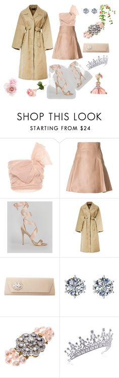 """""""A Trench with an Evening Dress"""" by p0llyinurpocket ❤ liked on Polyvore featuring RED Valentino, Alexander McQueen, New Look, Isabel Marant and Badgley Mischka"""