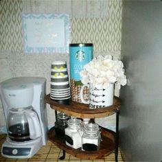 Small apartment kitchen coffee area idea