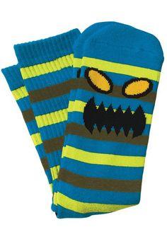 Toy-Machine Monster-Stripe, Socks, blue-neon Titus Titus Skateshop #Socks #MenClothing #titus #titusskateshop
