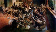 """Jacek Malczewski, """"Melancholia"""", 1890-1894, olej na płótnie, 139 x 240 cm, fot. Muzeum Narodowe w Poznaniu"""