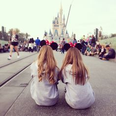 Cute picture idea to take with your best friend in disney(: