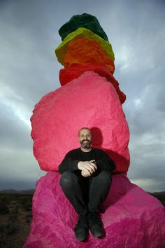 Ugo Rondinone and his Magic Mountains in Nevada