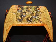 parrot celluloid purse frame