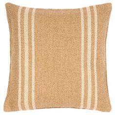 Fresh American Lexington Ivory/Camel Indoor/Outdoor Pillow