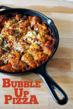 Quick dinner fixins' bubble up pizza... Use pillsbury dough, jarred spaghetti sauce and your favorite toppings.