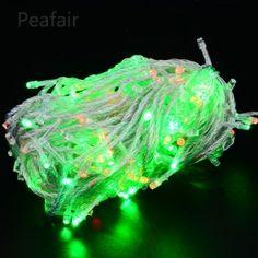110V 10M 8-Mode 100LED Christmas Decoration Greencolor String Lights US Plug White [83002a] - $6.99 : Peafair