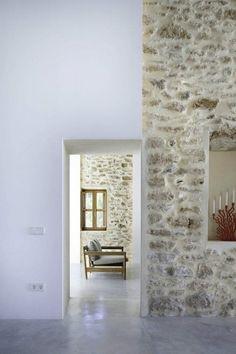brick wall and view.