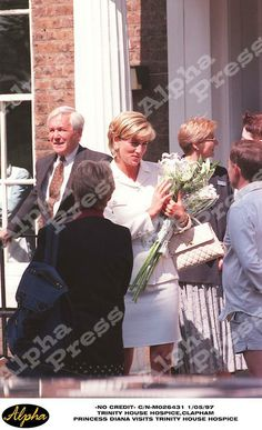 1 May 1997 Diana visits Trinity house hospice in Clapham, south London