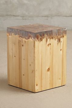 Alpine Glacier Side Table #anthropologie                 bonded wood, broken - resin on top with mold price $500