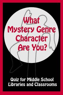 ReaderPants: What Mystery Genre Character Are You? Genre Activities, Library Activities, Library Lessons, Library Ideas, Mystery Genre, Middle School Libraries, Teen Programs, School Librarian, New School Year