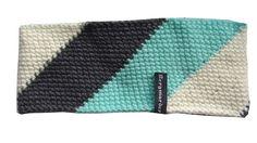 Stirnband gehäkelt schräge Streifen headband crochet