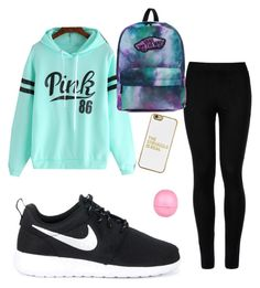 School outfit  by kaileyknaak on Polyvore featuring polyvore fashion style Wolford NIKE Vans BaubleBar River Island clothing
