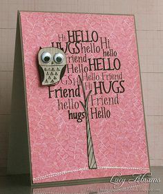 Some SERIOUS card making going on at this site!  GREAT, CUTE idea's!!!