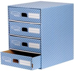 Bankers Box by Fellowes Attractive home storage drawer in a stylish polka dot design.