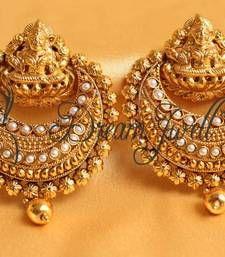 Gorgeous Kemp Ram Leela Earrings Danglers Drop Online Indian Gold