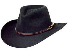 c6b65688eb087 Enjoy exclusive for Stetson Men s Bozeman Wool Felt Crushable Cowboy Hat -  Twboze-813007 Black online