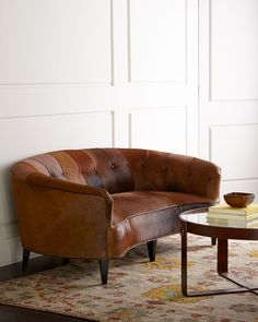 Absolutely love this Old Hickory Tannery Sandrine Sofa
