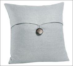 Textured Linen Pillow Covers | Pottery Barn (Blue Smoke)