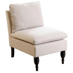 Bonnie Slipper Chair   Cream   Abbyson Living