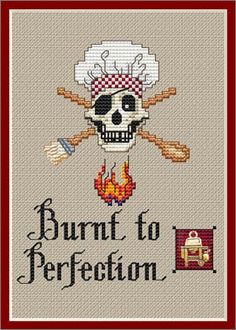 Cross Stitch Craze: Kitchen Decor Cross Stitch Patterns Burnt to Perfection