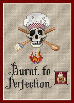 Cross Stitch Craze: Kitchen Decor Cross Stitch Patterns Burnt to Perfection