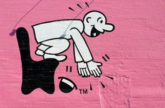 Jumpy guy from the SF Chronicle becomes street art