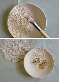 White clay plate