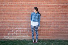 Draft and Sew Leggings One Little Minute Blog Awesome Tribal Leggings1 Drafting and Sewing Leggings // Stretch Yourself