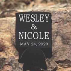 Congratulations on your engagement. Our wedding can coolers will add the perfect touch to your wedding reception. These can holders are a great gift for your bridal party and wedding guests to thank them for celebrating your special day.  What's Included:  -Black Foam Can Coolers(4x4 inch) -Text