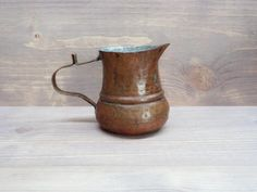Vintage Copper Pot Old Copper Pot for brewing Turkish coffee